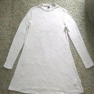H&M Divided tunic shirt dress beige size 4